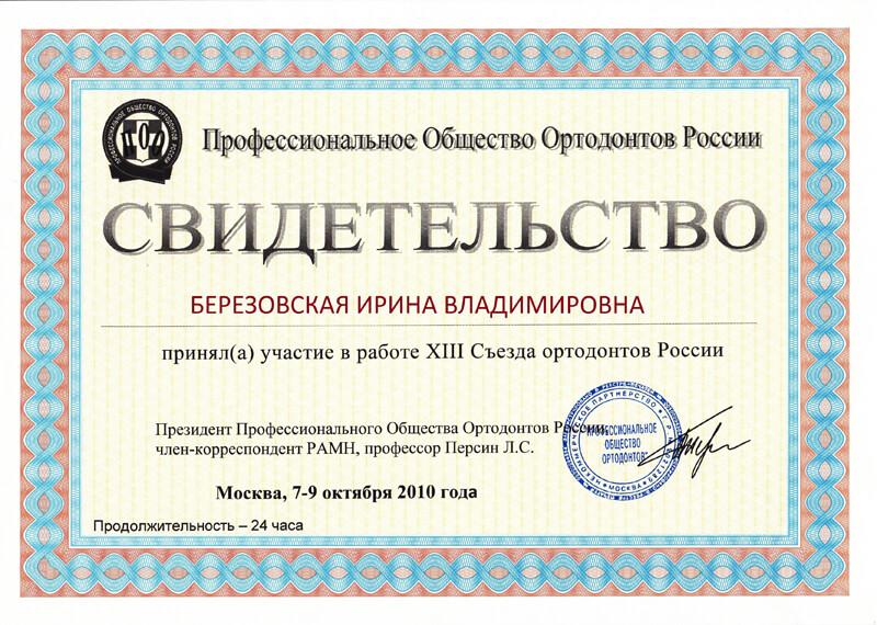 13 Съезд ортодонтов России