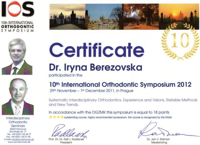 10 international orthodontic symposium 2012